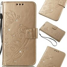 Card Holder Leather Flip Wallet Case Cover Stand Floral For Samsung iPhone Nokia