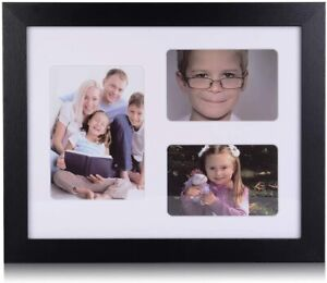 11X14 Collage Picture Frame with 3 Opening Mat, Fits for 4x6, 5x7 Photos Display