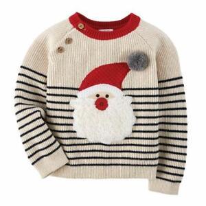 Mud Pie Kids Santa's Workshop Boys Striped Christmas Sweater
