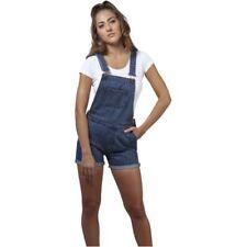 Pantalones cortos de mujer peto color principal azul 100% algodón
