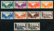 Libanon Lebanon 1947 Bucht von Jounieh Großes Serail Freimarken 361-370 MNH
