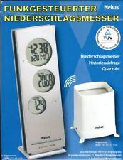 Mebus Funkgesteuerter Niederschlagsmesser Uhr-Thermometer Wetterstation
