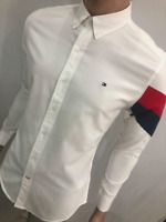 Tommy Hilfiger Long Sleeve Shirt Men's Top Grey Blue White S M L XL New Sale !