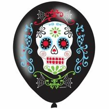 "Day Of The Dead 11"" Latex Balloons Halloween Party - 6 Pack"