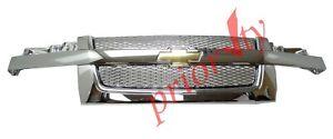 17801029 Front Grille Chrome Mesh Bowtie Logo 2004-2012 Chevrolet Colorado