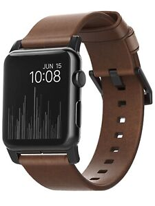 🔥BRAND NEW Nomad Leather Watch Strap for Apple Watch 42mm Brown NM1A4RBM00