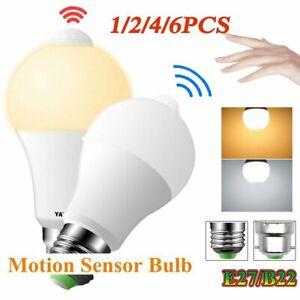 E27/B22 PIR Motion Sensor LED Lamp Bulb Globe Energy Saving Light Auto ON/OFF UK