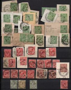 GB: Edward VII-George V Postmarks- Ex-Old Time Collection - 2 Sides Page (38285)