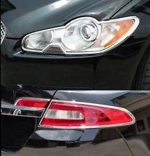 FAST EMS COMBO Set CHROME Front Light & Rear Light Trims for Jaguar XF XFR 08-11