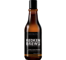 REDKEN BREWS EXTRA CLEAN SHAMPOO MEN'S SHAMPOO FOR OILY HAIR 1 x 300ml