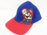 Nintendo Super Mario fitted flat billed Red White and Blue Baseball Hat