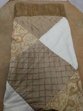 Nicole Miller Gold Brocade Satin Patchwork Shower Curtain