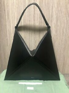 Authentic MLOUYE Black Leather Flex Hobo Bag Large