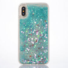 Bling Glitter Liquid Gel Soft Rubber Phone Back Case Cover For Apple iPhone X