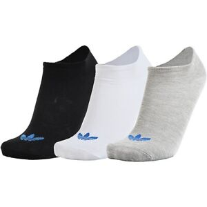 Adidas Originals Socks No Show Invisible Liner Ankle Mens Womens Ladies - 3 PACK