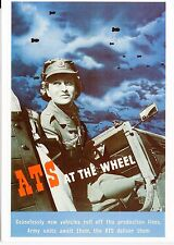 WW2 -CP - Repro affiche - ATS - AT THE WHEEL