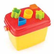 Dolu Brightly Coloured Shape Block Sorter Bucket for Toddler & Kids Toy Set