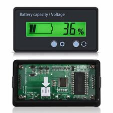 Battery Capacity Indicator Voltmeter Tester Voltage Meter LCD Display 12-48V