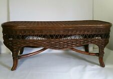 Vintage Wicker/Rattan & Bamboo/Cane Coffee Table