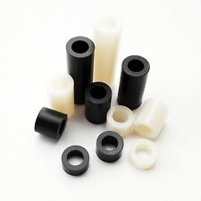 25pcs M4 Nylon ABS Plastic Non-Thread Round Standoff Spacer Washer Column ID 4mm