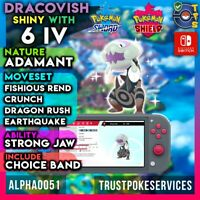 Dracovish Pokemon Sword Shield Shiny 6 IV | Adamant | Strong Jaw | Fast Delivery