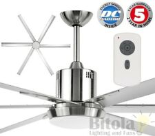 "NEW BRILLIANT MAELSTROM II WITH LIGHT 84"" LARGE DC CEILING FAN & REMOTE METAL"