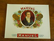 Vintage Flor De Manuel Cigar Label - Superiores Jc Winter & Co Inc