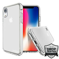Prodigee Safetee Steel White For iPhone Xr (2018) Case Clear Drop Tested