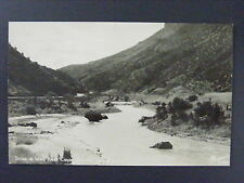 Wind River Canyon Wyoming WY Vintage Real Photo Postcard RPPC 1940s