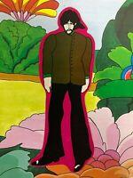 BEATLES-1968 YELLOW SUBMARINE BOOKMARK-GEORGE HARRISON KING-SUBA     240