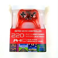 MY ARCADE Retro Micro Red Controller PLUG N PLAY 220 Built in Video Games Kidtoy
