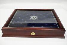 PRE-OWNED Danbury Mint 1964-2014 Kennedy Half Dollar Display box GREAT CONDITION
