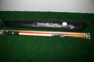 United We Stand USA Stars Stripes Pool Cue Billards Stick RCABC4
