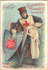 Victorian Trade Card-Red Cross Stoves-Rochester, NY-Chicago-Milwaukee-Crusader