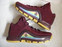 Mens Adidas Originals John Wall 2 Sneakers New, Maroon / Gold B39529 $120 Retail
