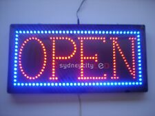 OPEN Sign LED Bright Animated Flashing LED Open Sign Store Window Neon 60x30cm