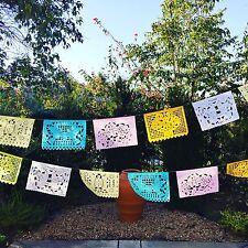 Mexican Papel Picado Banner- LARGE Paper Pastel Colors, Fiesta decor