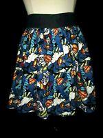 TRISHA JANE Size M Skirt Blue Black Red Superman Cotton