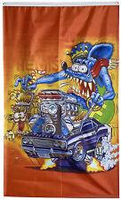 Rat Fink Dodge Challenger 70' Car Flag Banner 3x5ft US Shipper