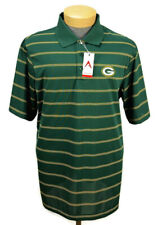 Green Bay Packers Mens Deluxe Polo Golf Shirt by Antigua Sz XL Green Striped NFL
