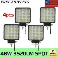 4X 4inch 48W LED Cube Pods LED Work Light Bar 4WD ATV SUV Offroad Truck 18W 27W