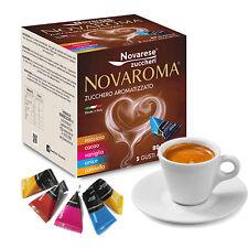 NOVAROMA 80 SACHETS SUGAR FLAVORED IN 5 TASTES FOR COFFEE BREAK SHOP