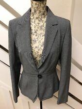 Next Womens Grey Blazer Formal Smart Office Work Jacket Size 8 UK