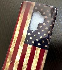 For Samsung Galaxy S9+ Plus - TPU RUBBER GUMMY CASE SKIN COVER USA AMERICAN FLAG