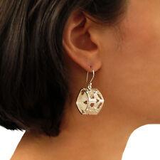 Sterling Silver 925 Square Drop Earrings