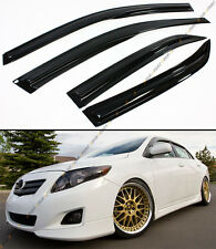 JDM WAVY 3D STYLE SMOKED WINDOW VISOR VENT SHADE FOR 2009-2013 TOYOTA COROLLA