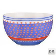 Oilily Porzellanschale blau-weiß-orange mit orangen Punkten D: 15cm K03
