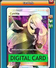 Cynthia Full Art 148/156 Ultra Prism PTCGO Online Digital Card