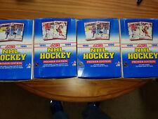 Lot of (4) 1990-91 Score Hockey Premier Edition Wax Box     2 Canadian 2 English