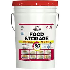 Augason Farms 30 Day Month Food Storage Emergency All in One Pail w/Water & Fire
